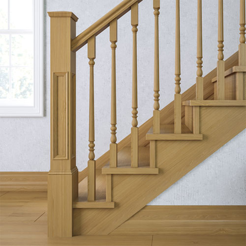 Supreme Panel Newel (Oak)